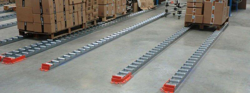 Floor Mounted Pallet Flow Lane