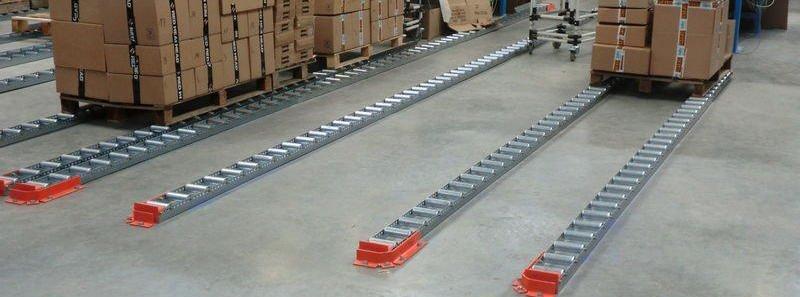 Floor Mounted Pallet Flow Lane