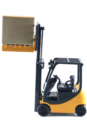 fork lift and pallet