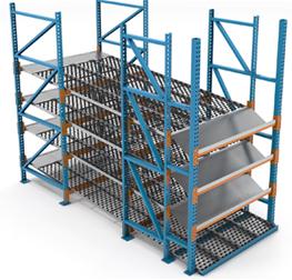 Carton flow tilt tray & load impact tray