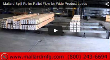Wide Load Pallet Flow with Separators