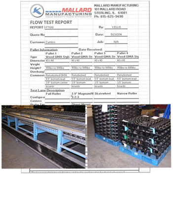 Mallard Pallet Flow Test
