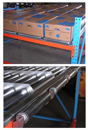 Gravity flow conveyor stacked