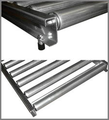 Gravity conveyor roll-over frame