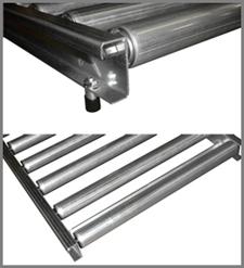 Gravity conveyor roll-over frame