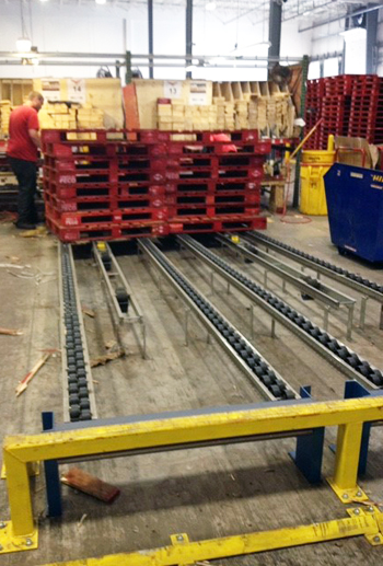 Magnum Wheel pallet Flow Racking