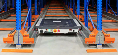 Deep lane pallet shuttle