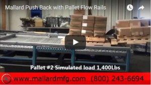 pallet flow rack loading video
