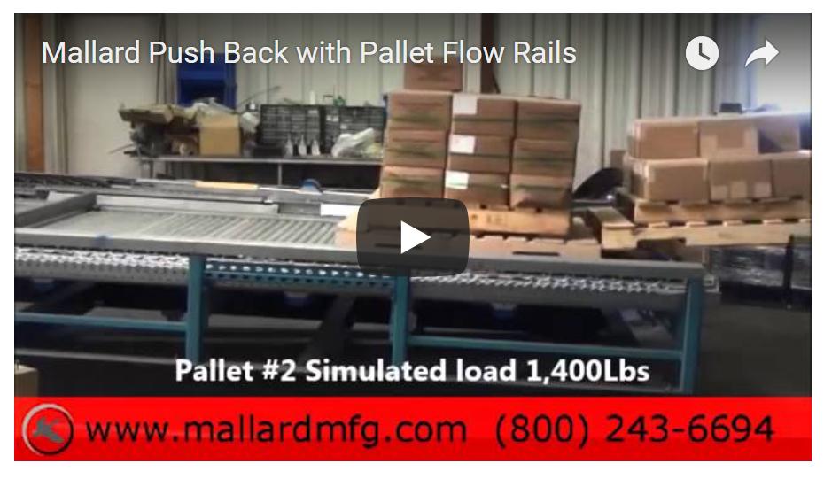 Push-Back Pallet Flow Forklift Loading - Mallard Manufacturing