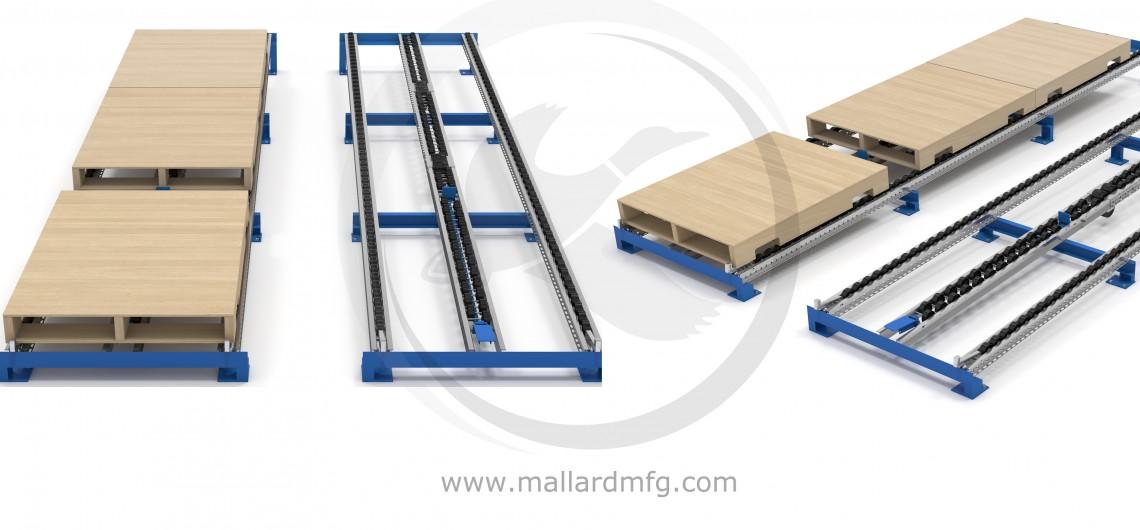 Fork Lift Pallet Flow Rack Separator FL 300 Illustration