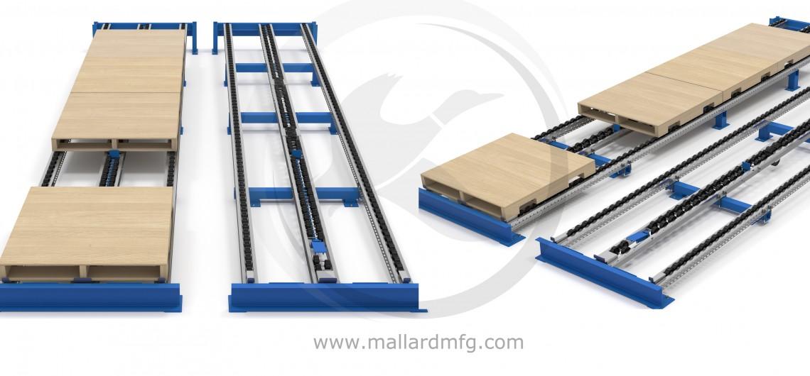Layer Pick Pallet Flow Rack Separator LP-400 Illustration