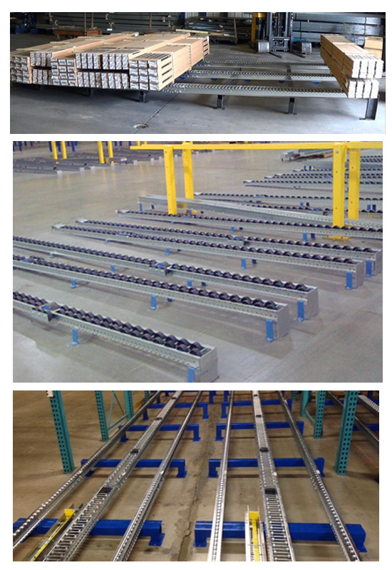 Floor Mounted Pallet Flow Rack Mallard Manufacturing