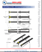 Pallet Flow Floor Mounted Supports Spec Sheet-small