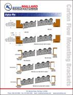 carton flow rack mounting brackets