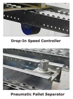 pallet flow racking separator