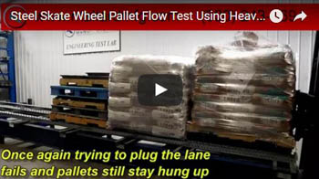Skate Wheel Pallet Flow with Heavy Pallets