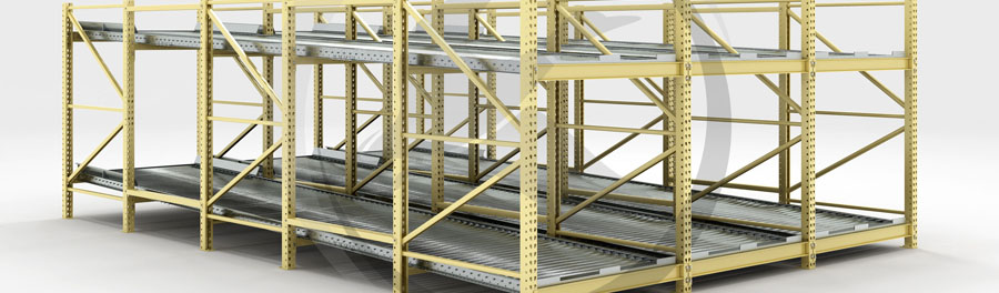 full roller pallet flow racking