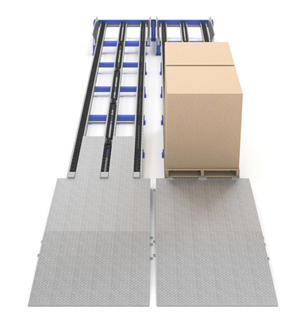 pallet flow access ramp