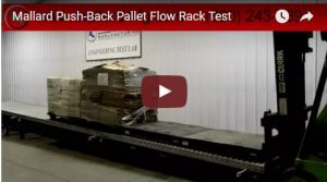 push-back pallet flow video test