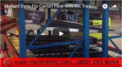 Dyna-Flo Carton Flow with Tilt Tray