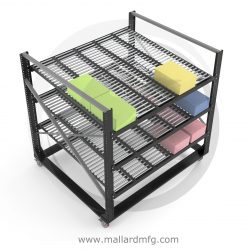 Mobile Carton Flow Work Cell with Cart-Trak