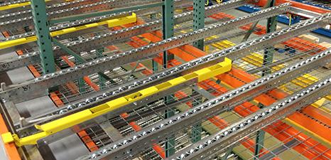Mallard pallet flow rack case pick separator