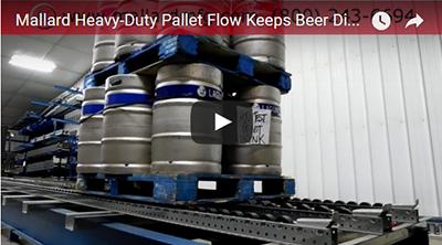 Keg pallet flow rack video