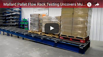 pallet flow racking video test for past producer