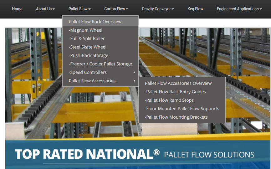 Mallard Manufacturing Pallet Flow Accessories