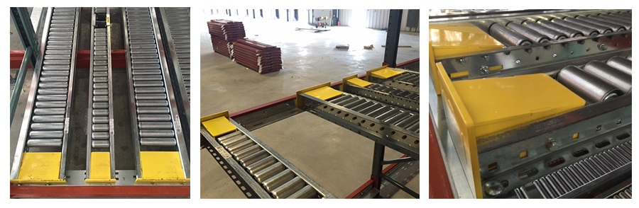 pallet flow rack ramp stop