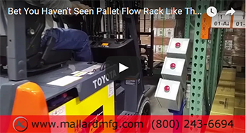 Unique Pallet Flow Racking Solution