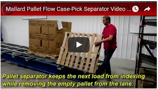 Mallard Pallet Separator Case Pick Video