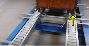 pallet flow racking test for bulk container