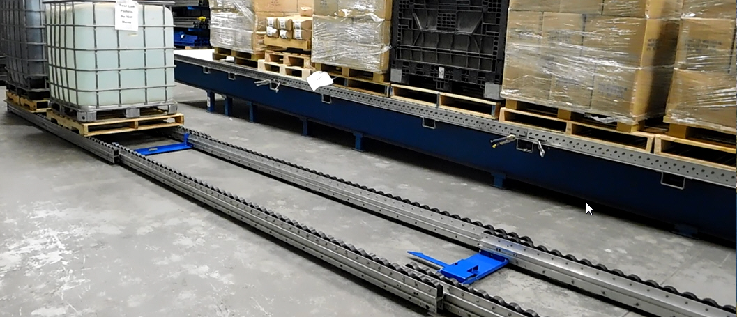 Extend-a-Rail HD Mobile Pallet Flow Mallard Manufacturing