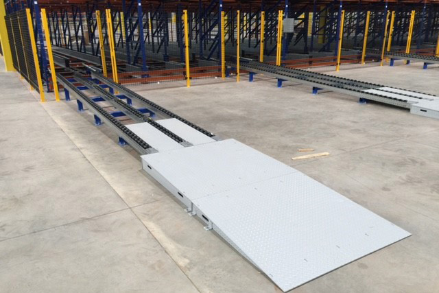 ASRS System Integrated with Mallard Pallet Flow Rack