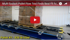 mallard pallet flow rack test