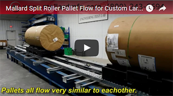mallard split roller pallet flow for custom drum storage