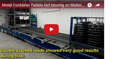 Mallard Gravity Flow Test - Magnum Wheel with Metal Container Pallets