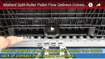 Split Roller Pallet Flow Test Mallard Manufacturing