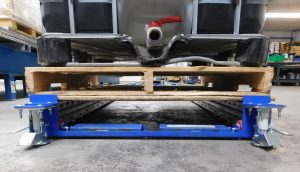 Extend-a-Rail HD Mobile Pallet Flow for heavy pallets