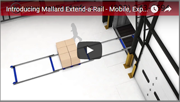 Extend-a-Rail Mobile Pallet Flow from Mallard Manufacturing