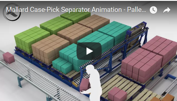 Case Pick Pallet Flow Rack Separator