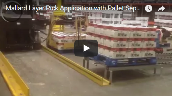 Layer Pick to Pallet Flow From Mallard Manufacuring