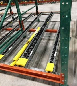 Magnum wheel pallet flow with case pick separator - Mallard Manufacturing