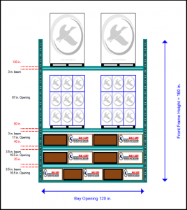 Carton Flow Rack Elevations