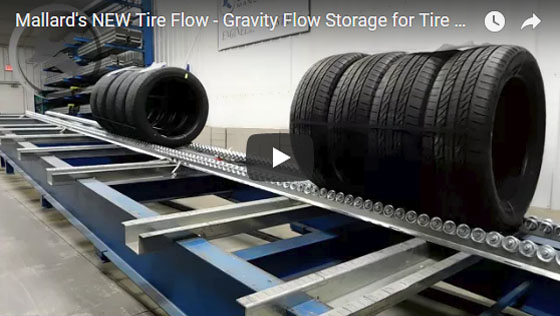 Tire Flow Storage Solution Mallard Manufacturing Customer Test