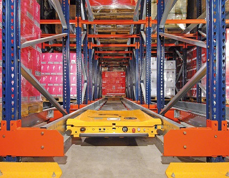 Automated Pallet Shuttle Lane