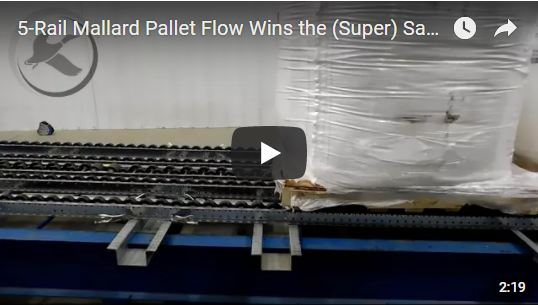 Mallard pallet flow rack for super sacks