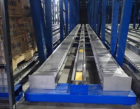Split-Roller Pallet Flow Lane Mallard Manufacturing