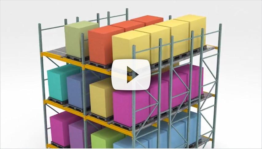 "2.5"" Full Roller Pallet Flow Mallard Manufacturing"